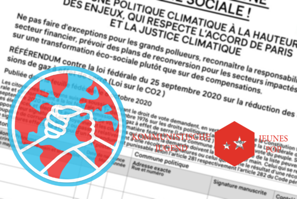 Les Jeunes POP Suisse soutiennent le référendum pour une écologie sociale.
