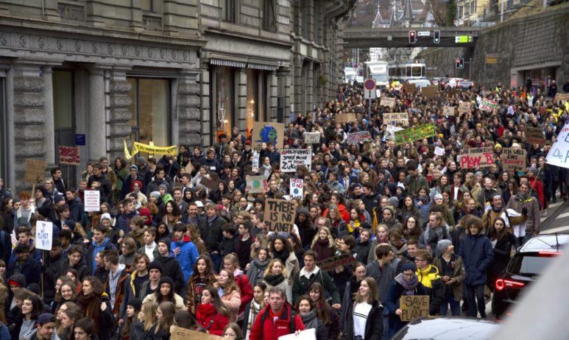 La jeunesse en grève pour le climat